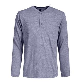 NE PEOPLE Mens Half Button Down Henley Long Sleeve T-Shirts [NEMT274]