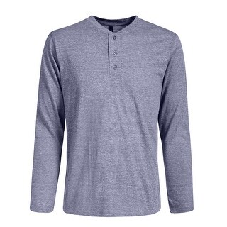 NE PEOPLE Mens Half Button Down Henley Long Sleeve T-Shirts [NEMT274]