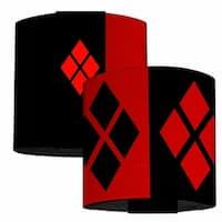 Harley Quinn 2 Diamond Blocks Red Black Red Elastic Wrist Cuff