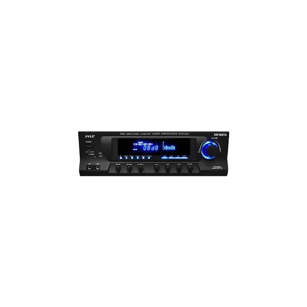 Pyle Audio PYLPT270AIUB Pyle 300-Watt Stereo Receiver AM-FM Tuner with iPod Docking Station and Subwoofer Control