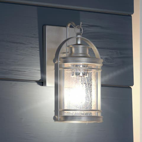 """Luxury Nautical Outdoor Wall Light, 11.5""""H x 6.75""""W, with American Bunglalow Style, Urban Aluminum, UQL1444 by Urban Ambiance"""