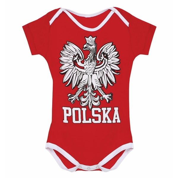 Baby's Heritage Red and White Snapsuit Creeper - Polska
