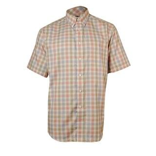 Roundtree & Yorke Men's TravelSmart Plaid Herringbone Shirt