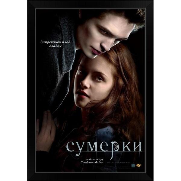 """Twilight - Movie Poster - Russian"" Black Framed Print"