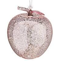 "5.75"" Rich Elegance Translucent Pink Apple Mercury Glass Christmas Ball Ornament"
