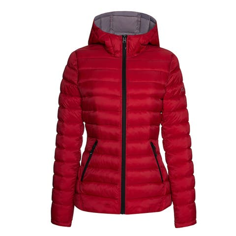 HFX Womens Lightweight Packable Jacket, Red/Silver L