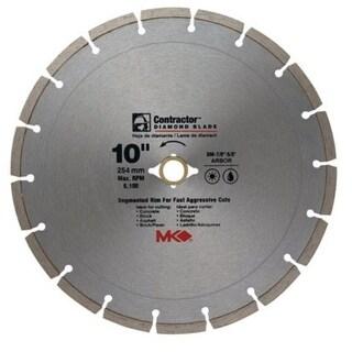 """MK Diamond 167017 Mk-99 Arbor Segmented Rim Diamond Blade, 10"""""""