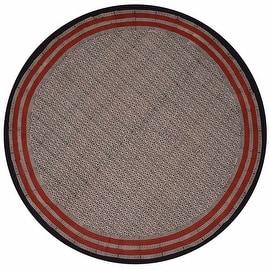 "Handmade 100% Cotton Hand Block Print Dabu Tablecloth 90"" Round Brick Red Beige Tan Black"