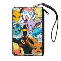 Eevee Evolution Pok�mon Faces Close Up Stacked Canvas Zipper Wallet