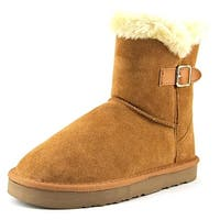 Style & Co. Womens TINY2 Suede Round Toe Ankle Cold Weather Boots