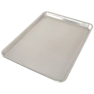 Nordic Ware Naturals Aluminum Bakers Half Sheet Baking Pan, 16.25x11.25x1 Inches - Silver