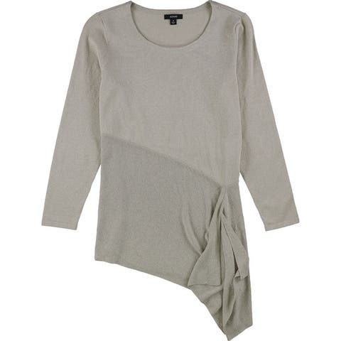 Alfani Womens Asymmetrical Pullover Sweater