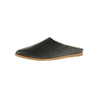Steve Madden Womens Zeke Slides Leather Almond Toe