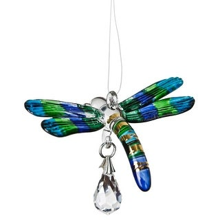 Fantasy Glass Dragonfly Rainbow Maker Peacock
