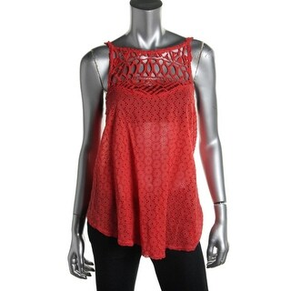 Free People Womens Cotton Sheer Tank Top - L