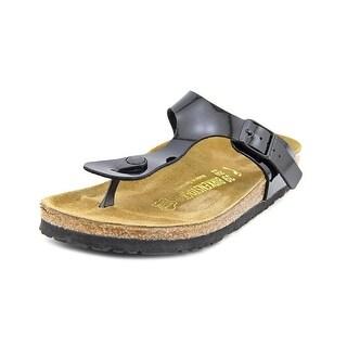 Birkenstock Gizeh Women N/S Open Toe Patent Leather Black Thong Sandal