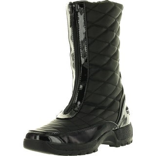 Totes Womens Diamond Winter Cold Weather Boots - Black