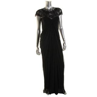 Tadashi Shoji Womens Lace Trim Prom Evening Dress - L