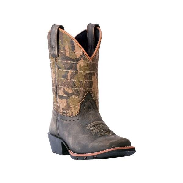 e2640f920be Shop Dan Post Western Boots Boys Foxtrot Cowboy Dark Brown Camo ...