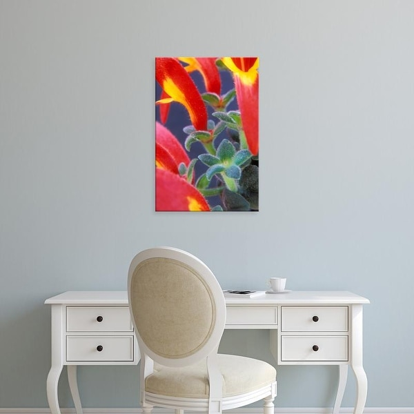 Easy Art Prints Brent Bergherm's 'Colorful Blossoms And Leaves' Premium Canvas Art