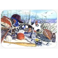 Carolines Treasures 1011LCB 15 x 12 in. Sports on the Beach Glass Cutting Board, Large