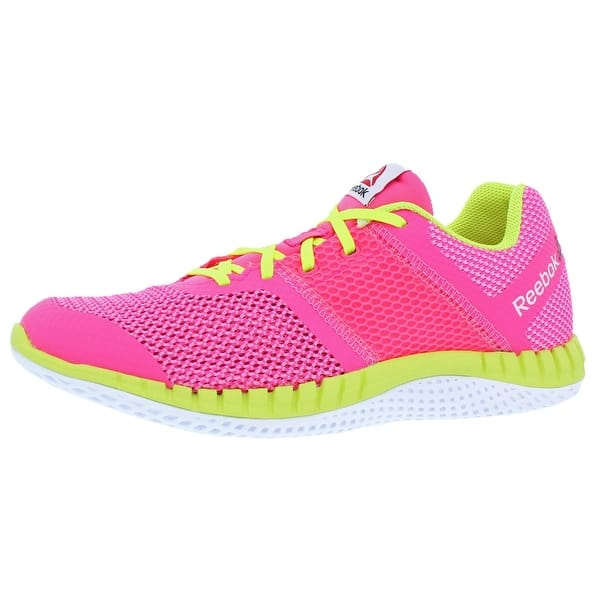 sella navetta Notte  Shop Reebok Girls ZPrint Run Running Shoes Sport Trainers - Solar  Pink/Pink/Yellow/White - 7 Medium (B,M) Big Kid - Overstock - 22680090