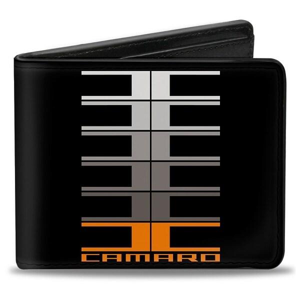 Camaro Performance 01 Camaro W C Black Gray Orange Bi Fold Wallet - One Size Fits most