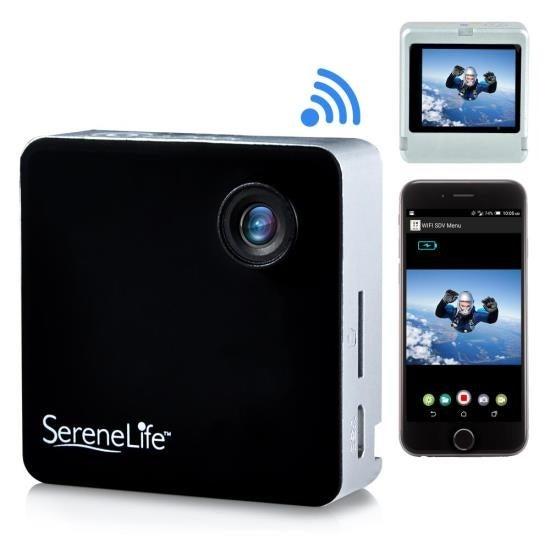 Full HD 1080p WiFi Pocket Cam, 2-in-1 Camera + Camcorder, Control via Smartphone (Black)