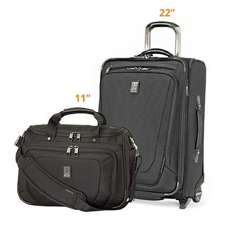 "Travelpro Crew 11 - Black 11"" DeluxeTote & 22"" Rollaboard w/ Exterior USB Port -2 Piece Set"
