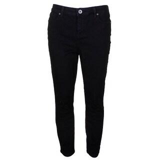 Style & Co Petite Deep Black Performance Mid Rise Short Length Skinny Jeans