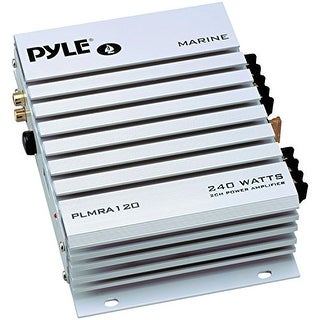 Pyle Audio PYLPLMRA120s PYLE PLMRA120 240-Watt 2-Channel Waterproof Marine/Car Amplifier