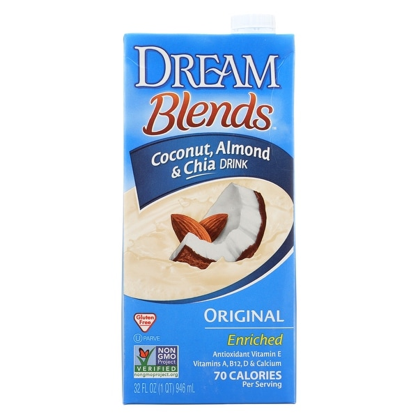 Dream Blends Original Coconut, Almond and Chia Drink - Case of 6 - 32 FL oz.