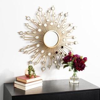 """Safavieh 29"""" Nicolette Sunburst Mirror - Gold - 28.8"""" x 2"""" x 28.8"""""""