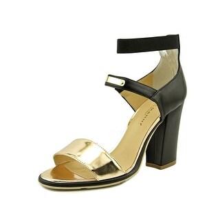 Lara Manni T90   Open Toe Leather  Platform Heel