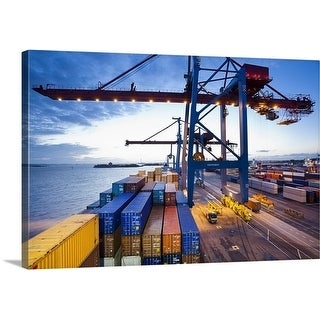Premium Thick-Wrap Canvas entitled Container terminal
