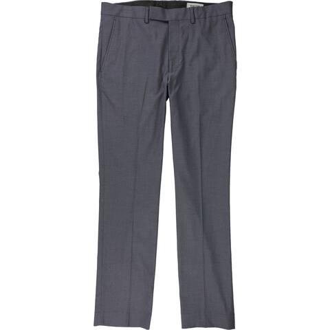 Kenneth Cole Mens Stretch Dress Pants Slacks, Blue, 33W x 32L - 33W x 32L