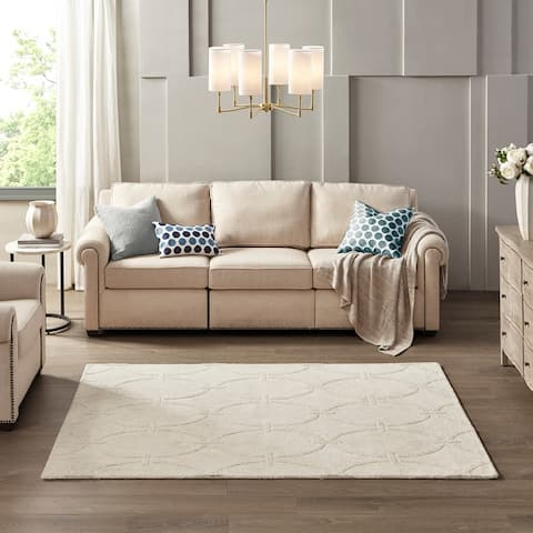 Madison Park Ethereal 100-percent Wool Nuance Area Rug