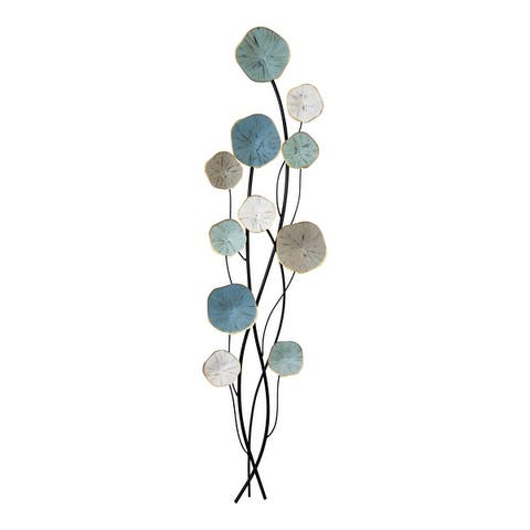 Stratton Home Decor Flower and Stem Metal Wall Decor - 14.00 X 1.57 X 43.31