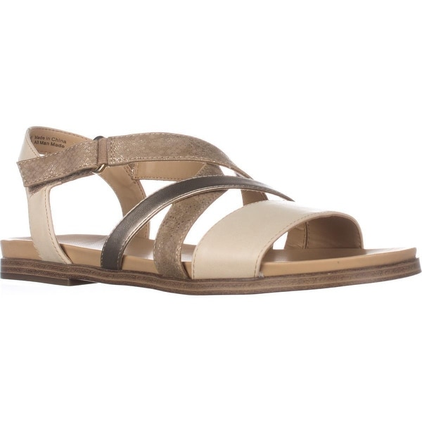 naturalizer Kandy Flat Strappy Sandals, Beige