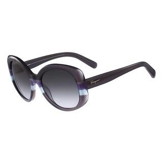 Salvatore Ferragamo Womens Round Sunglasses UV Protection Gradiant - o/s