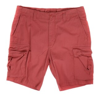 Nautica NEW Red Sailor Mens Size 33 Ripstop Anchor Seamed Shorts