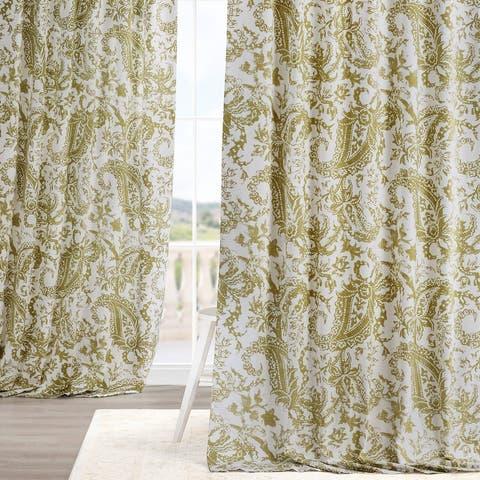 Exclusive Fabrics Edina Washed Printed Cotton Single Curtain Panel