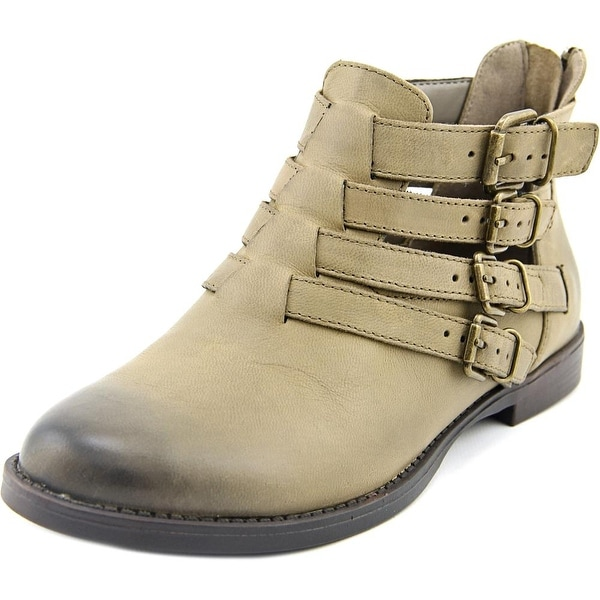 Bella Vita Ronah Women Round Toe Leather Gray Bootie