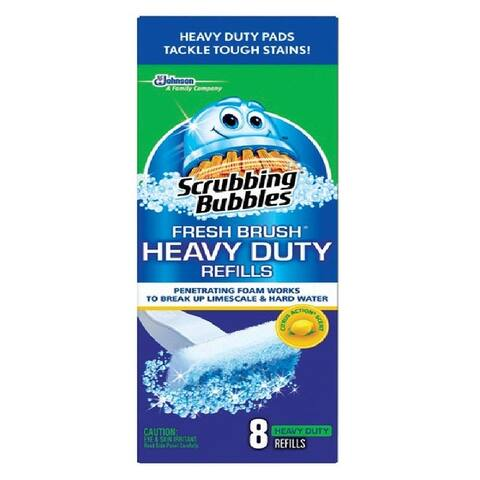 Scrubbing Bubbles 22148 Heavy Duty Toilet Brush System Refills Pad, 8-Count