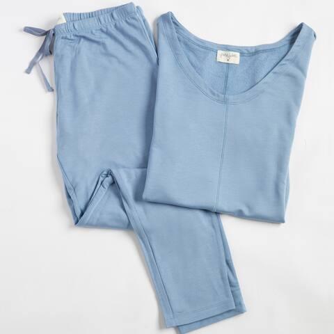 Delilah Long Sleeve Rayon Loungewear Set