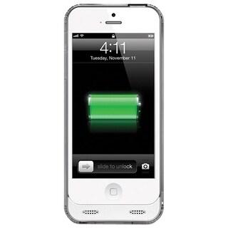 Naztech iPhone SE/5s/5 Power Bank MFi Apple Certified 2400 mAh External Portable Battery Backup Charging Case - Grey