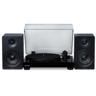 Fluance Classic Hifi Vinyl Turntable - Belt Drive, Preamp with Ai40 5 Powered Bookshelf 70W Speakers - aptX Bluetooth