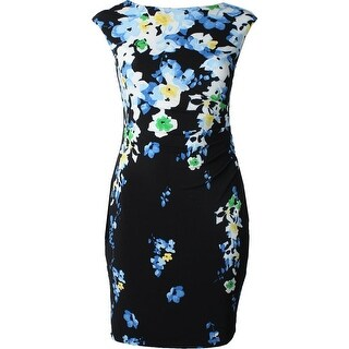 Lauren Ralph Lauren Womens Birdsong Casual Dress Floral Print Sheath