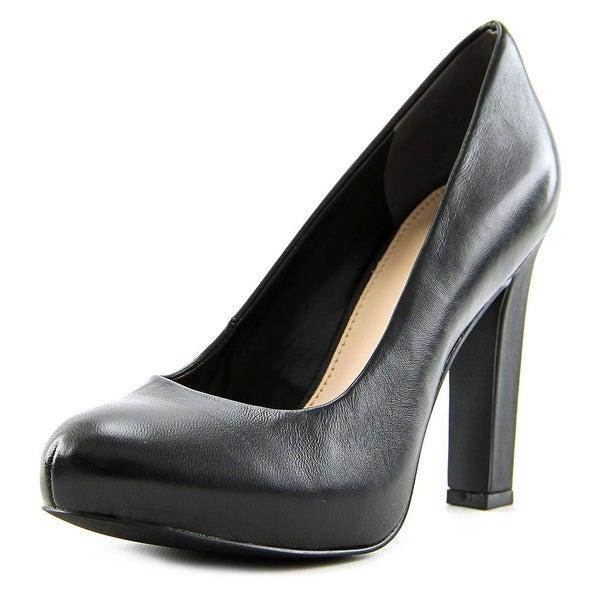 Bar III Feline Women  Round Toe Leather  Heels