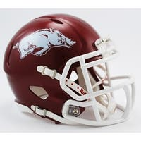 Arkansas Riddell Speed Mini Football Helmet